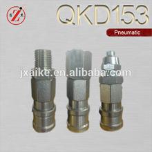 Qkd153 de acero al carbono de un solo cierre- off neumáticos conectores rápidos
