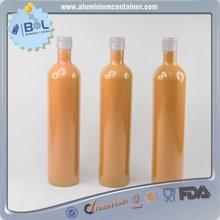 1l high quality brown aluminum beer bottle