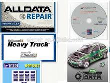 New 5 in 1 Alldata Automative Software Alldata 10.53+Mitchell 2014 Heavy Truck+ATRIS+ATSG+Vivid Workshop