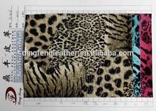 Good leopard grain printed leather for making Handbag
