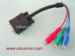 4K 10.2gbps TV HDTV adapter vga to rca splitter cable