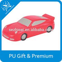stress pu sports car OEM design vehicles shape pu sports car pu toys sports car