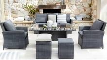Rattan balcony sofa set outdoor synthetic wicker garden furniture