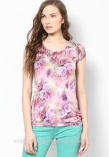 En general la impresión ropa formal de la blusa para las para mujer / estampado floral formal del desgaste blusas