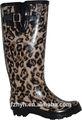 la impresión de leopardo de lluvia de goma zapatos de las mujeres