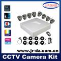 Nuevo 2014 8ch d1 cámara cctv kit, pcs 8 800 tvl cámaras de interior y 8ch d1 en tiempo real dvr