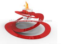 Unconventionally Designed Free Standing Firepot Gel Fuel Bio Ethanol Outdoor Fireplace