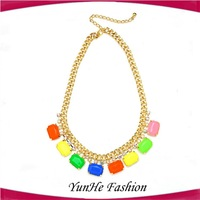 Yiwu Jewelry Wholesale May New Designs Necklace&Tassel Drop Charm necklace for Summer YHMH158