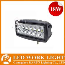 Good quality 18w led car lighting, motorcycles, atv, utv led work lights 18w led lighting kits