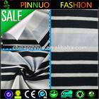 black and white stripe knit fabric single jersey