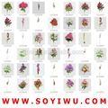 Instock apuramento& freesamples& orquídea artificial arranjo do mercado de yiwu para flores artificiais& frutas