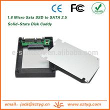 Ultra-thin ES-1825-MIC 1.8 inch Micro SATA SSD to SATA2.5 Case for Mini Computer