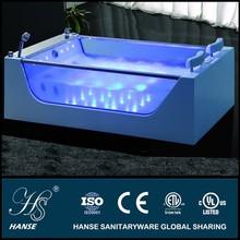 HS-B227 couple transparent glass free sex massage bath tub