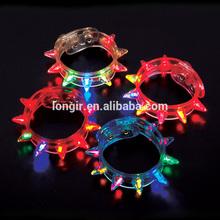 LED Party blinking Flashing light up spike Bracelets Multi colored Cyber Punk Rave