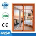 Elegante em alumínio portas de correr/porta de vidro deslizante/interior portas de vidro