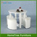 pintura de alto brilho madeira barato redonda mesa de jantar e cadeiras