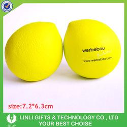 Promotional customized logo lemon pu ball