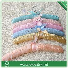 satin hanger for fasion shop fabric fashion design hanger OEM accepted