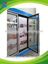 Fashional refrigerator glass door with aluminium frame