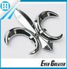 customized car plastic badge emblems sticker abs emblems Fleur De Lis Star Chrome emblems