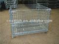 Dobrável arame container/empilháveis armazenamento gaiola/cesta de metal