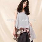 2014Summer halter top, bohemian blouse top, irregular linen halter top