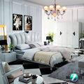 elegante cama rey reina romance creativo de la cama cama de cuero