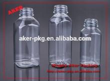 supply plastic pet clear / transparent beverage fruit juice bottle 8oz ,12oz, 16oz