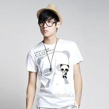 2015 hot sale custom men o-neck printed 100% cotton tshirts