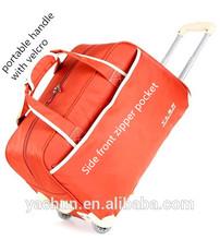 """20"""" Fashion rolling bag duffel bag luggage bag with trolley"""