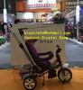 "2014 Canton fair Booth No.: 14.1-J-08 Date:23th-27 Hebei Tieniu baby tricycle three wheels hand push steel frame 10"" & 8"" wheel"