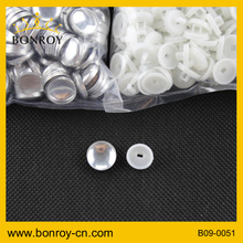 China supplier aluminium button fabric covered buttons