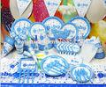 Fiesta de cumpleaños de los suministros para los niños un poco el tema boy conjunto al por mayor, cumpleaños de artículos de decoración
