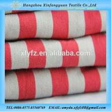 XFY yarn dyed 100 cotton single knitted stripe jersey fabric