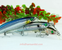 San San minnow floating fishing lures 125mm 25g hard plastic fishing tackle Model N1010A