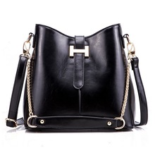 2015 wholesale korean fashion waterproof waxy leather shoulder bag/handbag