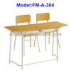 Double economic middle school desk and chair FM-A-304