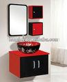 Venda quente 2014 Modern bacia banheiro armário da vaidade material de PVC de espelho da China fabricação