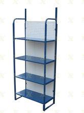 portable 4 layers shelves metal iron folding shelf