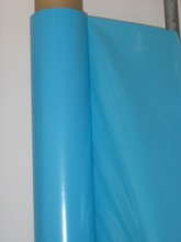 High quality Pressing line PVC film blue color for raincoat bag and table cloth