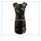 2014 new design polyester printed fashion bodycon summer dress