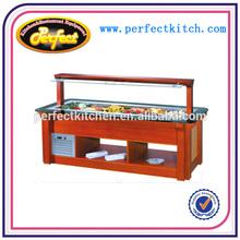 Marble Island Open Type Salad Bar/Salad Bar Fridge/Bar Counter