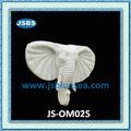 Handmade de mármore branco elefante ornamentos de jardim