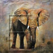 Wild Animal Oil Painting (Elephant)