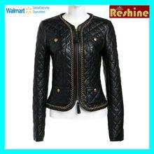 fashion style pu women leather Jacket