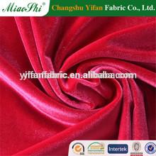 2014 Hot Sell 95% Polyester 5% Spandex Plain Dyed Polyester Velvet