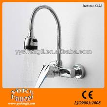 Single handle flexible wall mounted waterfall faucet led