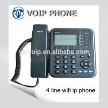 4 line wifi ip phone sip phone, support POE