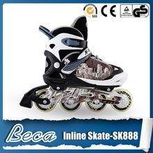 Hot sales brown child adjustable size aluminum chassis TPR brake kids roller skate