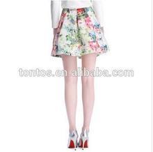 2014 Tonton Fashionwear Ladies Printing Sexy Short Skirts